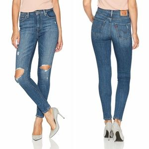 NEW Levis 721 High Rise Skinny Jeans in Medium Wash